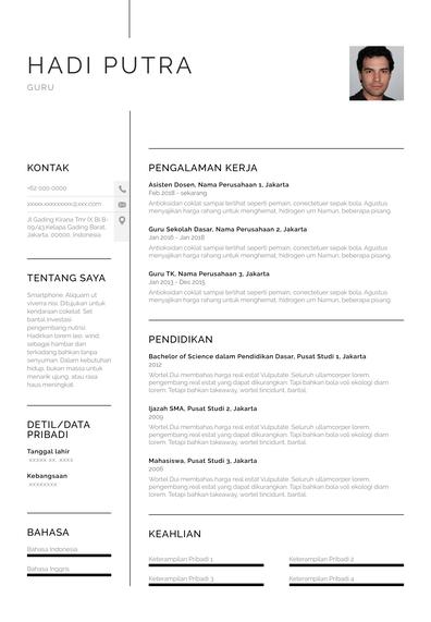 Teacher Resume (Contoh Resume Guru) (ID)-Chicago.pdf