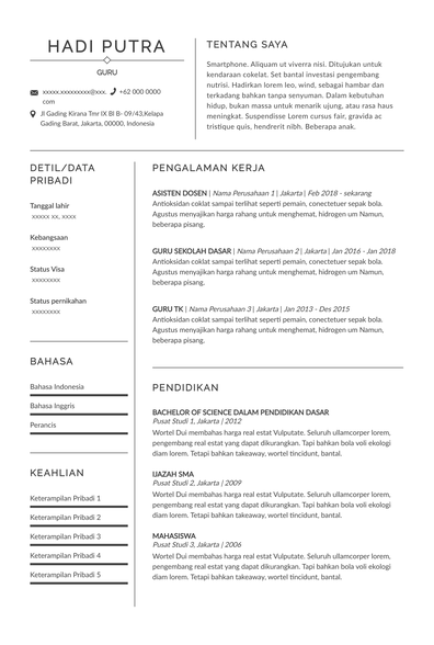Teacher Resume (Contoh Resume Guru) (ID)-Prague.pdf