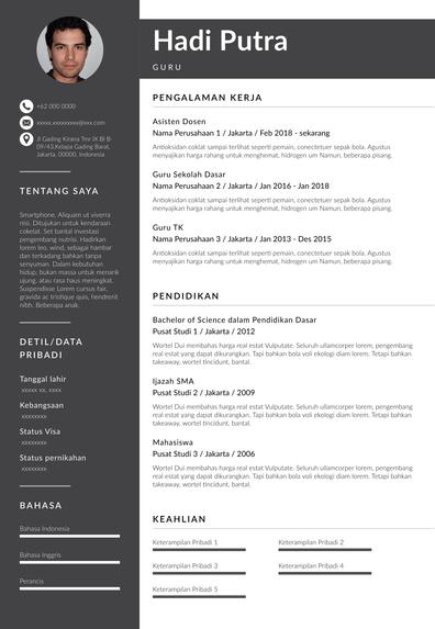 Teacher Resume (Contoh Resume Guru) (ID)-Rotterdam.pdf