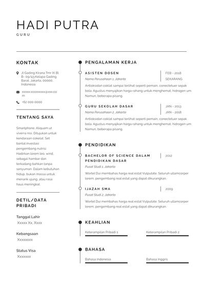 Teacher Resume (Contoh Resume Guru) (ID)-Sydney.pdf