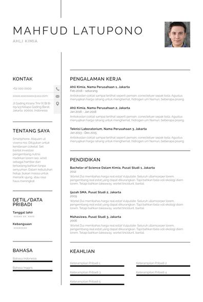contoh resume fresh graduate Chicago.pdf
