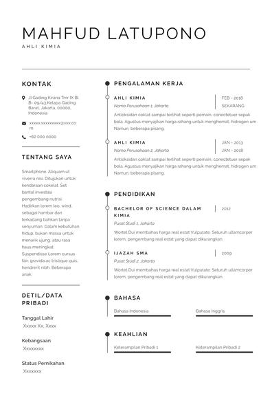 contoh resume fresh graduate Sidney.pdf